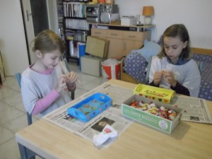 Meyleen et Margot très concentrées