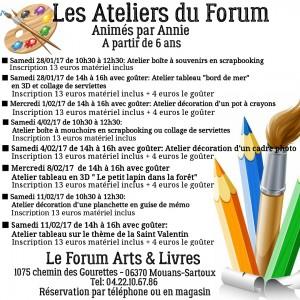 Les ateliers du forum