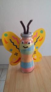 papillon en sel coloré