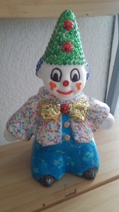 clown en Décopatch et sequins