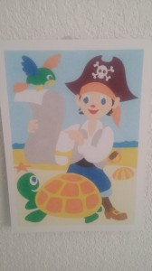 tableau de sable pirate