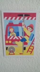 tableau de sable pompier