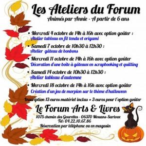 programme debut octobre