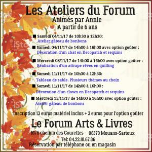 programme debut novembre 2017